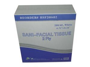 GEN Sani Facial Tissue 2-Ply White 40 Sheets/Box HSF200402