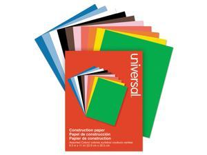 Construction Paper, 76lb, 9 x 12, Assorted, 200/Pack 20900