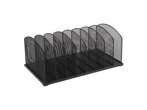Staples 828565 Black Wire Mesh 5-Section Incline Sorter