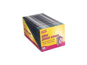 Staples 5mm Slim Jewel Cases 50/Pack 445567
