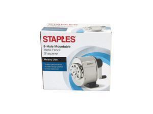 Staples Manual Pencil Sharpener Black/Silver (27672) 1634472