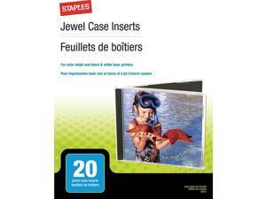 Staples Jewel Case Inserts 25/Pack 1981438