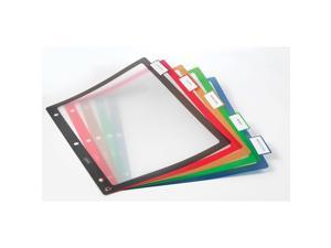 Staples Better Print & Apply Label Plastic Dividers 5-Tab Assorted Colors Set