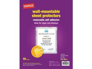 Staples Diamond Clear Wall-Mountable Display Protectors Clear Letter 10/PK 15945