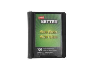 Staples Better 1-Inch Round 3-Ring Micro View Binder Black (26229)