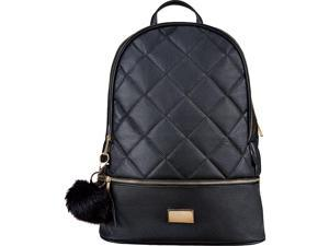 Staples Newbury Quilted Backpack with Tassel Black (51035) 52414