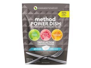 Method Power Dish Detergent Tabs, Fragrance-Free, 45 Tabs/Pack 01760