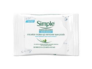 Simple® Eye And Skin Care, Eye Make-Up Remover Pads, 30/Pack, 6 Packs/Carton