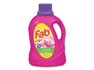 Fab® Scented Laundry Detergent, Love Duet, 60 oz Bottle, 6/Carton FABBB33