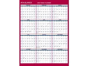"2020 AT-A-GLANCE 12"" x 15 11/16"" Vertical/Horizontal Reversible Erasab 24390545"