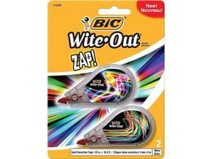 BIC Wite-Out Brand Zap Correction Tape 2/Pack 256717