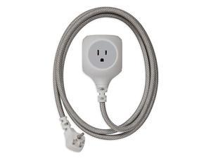 360 Electrical 6 Feet Braided Cord USB Grey 360470-8CA4ESC1
