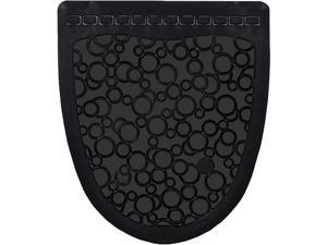 Fresh Products P-Shield Urinal Mat, Black, 6/CT PSUMF00