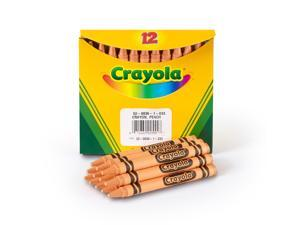 Crayola Single-Color Refill Crayons, Peach, 12 52-0836-033