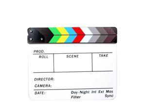 Director Movie Video Slate Clapboard Film Slate Color Clap Stick Clapper Board