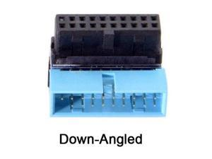Down Angled 90 Degree Motherboard 19Pin 20Pin Header USB 3.0 Male to Female Extension Adapter Coupler