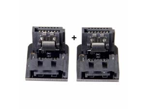 2pcs SATA 7Pin Male to Female 90 Degree Angled Adapter for Motherboard SSD HDD