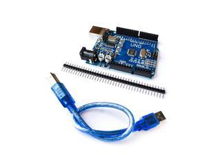 UNO R3 Development Board Microcontroller with USB Cable ATmega328P for Arduino Win Mac