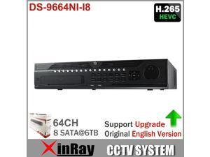 Hikvision 64CH NVR Embedded NVR DS-9664NI-I8 Up to 12 Megapixels resolution recording 8SATA for 8HDDs HMDI1 at up to 4K NVR