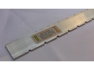 LuthierToolStraightEdge NotchedScale24.75/25.5for GibsonFender GuitarNecks .125x1.5x23.256061T6511 ASPS