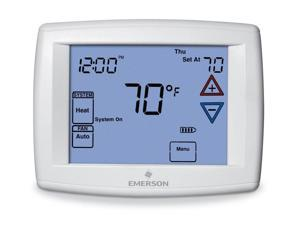 EMERSON 1F97-1277 Blue Series 12 Touchscreen Thermostats , 7, 5-1-1 Programs, 1