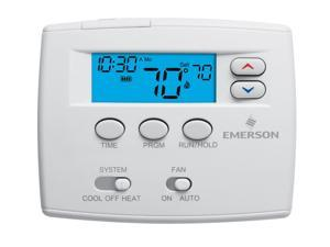"""Emerson 2"""" Blue Single Stage Programmable Thermostat"""