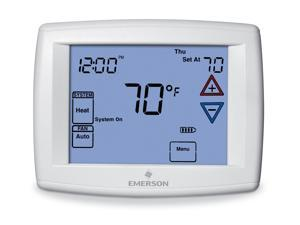 EMERSON 1F95-1277 Blue Series 12 Touchscreen Thermostats , 7, 5-1-1 Programs, 3