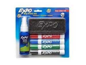 Expo Low-Odor Dry Erase Set, Chisel Tip, 6-Piece, Assorted Colors