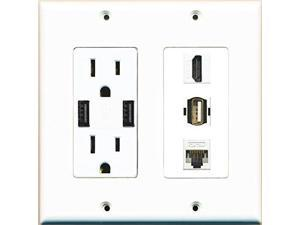 outlet and hdmi wall plate