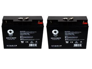 SPS Brand 12V 18Ah Replacement Battery for APC SMART UPS 1500 UPS Battery (2 Pack)
