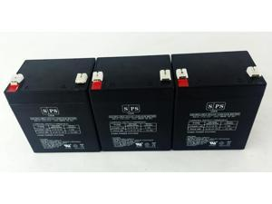 12v 5Ah  APC Back-UPS BE ES350 BE ES500 UPS Replacement Battery (3 PACK) SPS BRAND