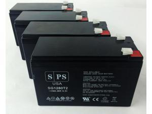 12v 8Ah Vision 6FM7.2, 6 FM 7.2 UPS Replacement Battery (4  PACK) SPS BRAND