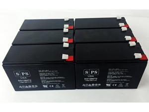 12v 8Ah Falcon Electric Industrial Grade SSG2.2KRM-1 UPS Replacement Battery (6  PACK) SPS BRAND