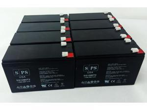 12v 8Ah OneAC Sinergy SE II SE041, SE041XAT UPS Replacement Battery (8  PACK) SPS BRAND