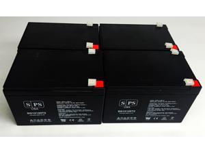 12v 12Ah Minuteman MBK 680i  UPS Replacement Battery (4 PACK) SPS BRAND