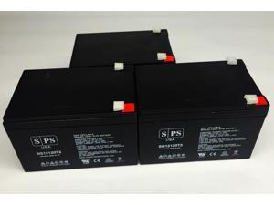 12v 12Ah Parasystems MBK 680i  UPS Replacement Battery (3 PACK) SPS BRAND