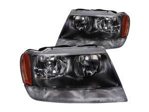 Anzo USA 111042 Jeep Grand Cherokee Crystal Chrome Headlight Assembly