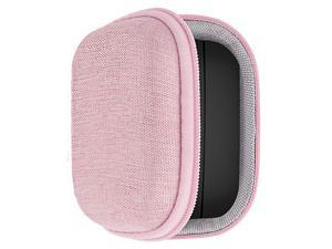 Geekria UltraShell Case with Carabiner Compatible with Jabra Elite 75t / Elite 65t Earbuds, Replacement Protective Hard Shell Travel Carrying Bag with Cable Storage (Pink)