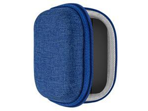 Geekria UltraShell Case for Jabra Elite 75t Earbuds, Elite 65t Alexa Enabled Bluetooth Headphone, Portable Cover Travel Bag, Elite75t Earphone Storage Case with Space for Charging Cord, Parts (Blue)