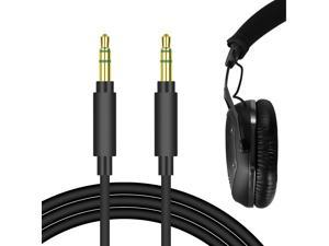 Geekria QuickFit Audio Cable Compatible with V-MODA, TREBLAB, SMS Audio, KOSS, HiFiMAN, Grado, Ghostek Headphones Cable, 3.5mm AUX Replacement Stereo Cord (Black 5.6FT)