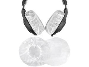 Geekria 10 Pairs Large Stretchable Earphone Covers / Disposable Sanitary Earpad Covers, Fit AKG K701, Q701, Sennheiser HD900, HD800, Razer Kraken X, 7.1 Chroma V2, Pro V2 Over-Ear Headphones (White)