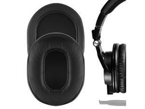 Geekria Elite Sheepskin Replacement Ear Pads for Audio-Technica ATH-M50X ATH-M40X ATH-M30X ATH-M20X ATH-M10X Headphones Earpads, Headset Ear Cushion Repair Parts (Black)