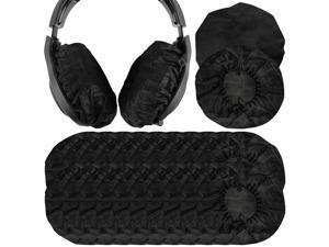 Geekria 100 Pairs Large Stretchable Headphone Earpad Covers / Disposable Sanitary Earcup Fit AKG K701, Q701, Sennheiser HD900, HD800, Razer Kraken X, 7.1 Chroma V2 Over-Ear Headphones (Black)