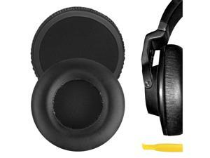 Geekria QuickFit Protein Leather Ear Pads for AKG K550, K551, K553 MKII, Headphones, Replacement Ear Cushion / Ear Cups / Ear Cover, Headset Earpads Repair Parts (Black)