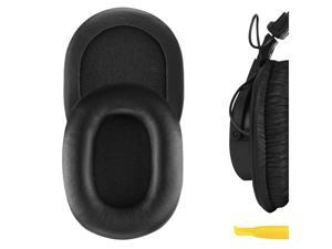Geekria QuickFit Protein Leather Ear Pads for SONY MDR-7506, MDR-V6, MDR-CD900ST Headphones, Replacement Ear Cushion / Ear Cups / Ear Cover, Headset Earpads Repair Parts (Black)