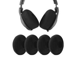 """Geekria 2 Pairs Large Knit Fabric Washable Headphone Covers/Earphone Covers/Ear Pads Protector/Stretchable Sanitary Earcup, Fits 4.33""""-6.29"""" Headsets (Black)"""