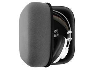 Headphones Case for AKG Q701, K701, K702, K712, K550, Beyerdynamic DT990, T1, DT880 Pro, Sennheiser HD800, HD700, HD650, HD600 Full Size Hard Large Carrying Case / Travel Bag (Saffiano Leather)
