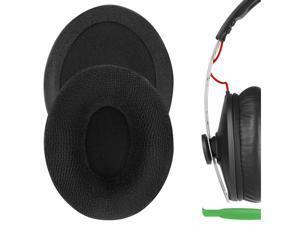 Geekria Comfort Velour Replacement Ear Pads for Sennheiser Momentum On-Ear Headphones Earpads, Headset Ear Cushion Repair Parts (Black)