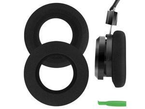 Geekria Comfort Foam Replacement Ear Pads for GRADO SR125, SR225, SR325, SR60, SR80, SR80e, M1, M2 Headphones Earpads, Headset Ear Cushion Repair Parts (Black)