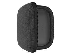 Geekria UltraShell Case for Jabra Elite 75t, Elite 65t Earbuds, Replacement Protective Hard Shell Travel Carrying Bag with Room for Accessories (Black)